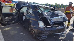 Estat del cotxe de lloguer després de l'accident en l'Alcúdia