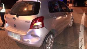 Estat en què ha acabat el vehicle del conductor detingut després de provocar dos accidents