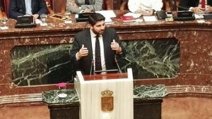 Fernando López Miras, candidato del PP a la presidencia del Gobierno de Murcia