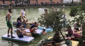 Fotografia de la cursa de barques de la Festa Major de les Borges Blanques 2018