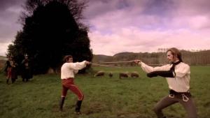 Harvey Keitel y Keith Carradine en una secuencia de 'Los Duelistas' (1977)