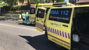 Herido grave un motorista tras chocar con un vehículo en Madrid