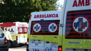 Imagen de archivo de ambulancias en Castellón.