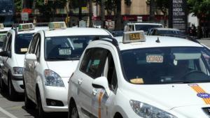 Imagen de archivo de taxis en la ciudad de Palma de Mallorca