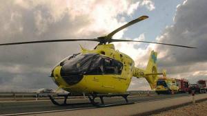 Imagen de archivo de un helicóptero de emergencias sanitarias 112.