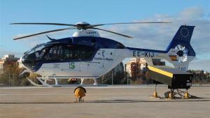 Imagen de archivo de un helicoptero del 112.