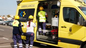 un hombre ha resultado herido de carácter grave tras sufrir un accidente de tráfico en la TF-1