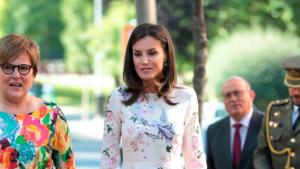 Imagen de la reina Letizia durante el acto