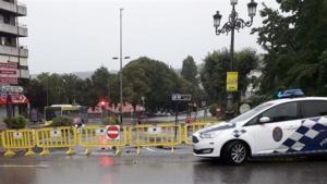 Imagen de las incidencias por las tormentas en Galicia