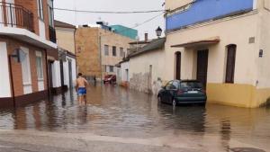 Imagen de las inundaciones en Pedrajas, Valladolid