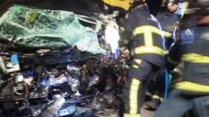 Imagen de uno de los vehículos implicados en el accidente
