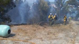 Imagen del incendio que ha obligado a desalojar a 400 personas