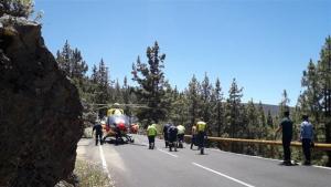 Imagen del operativo de rescate tras el accidente