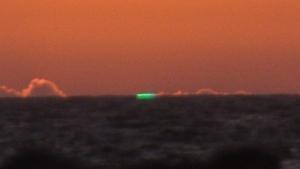 Imagen del rayo verde visto en las islas Cíes
