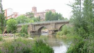 Imagen del río Duero a su paso por Almazán.