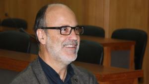 Imatge d'Alfons Montserrat, alcalde d'Alcanar en roda de premsa