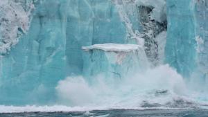 Imatge de la desfeta de la glacera Thwaites