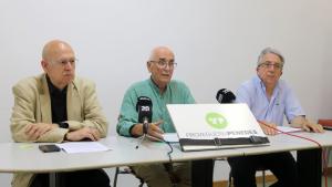 Imatge de la roda de premsa de la Plataforma Pro Vegueria Penedès, del 23 de juliol del 2019