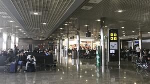 Imatge de la sala d'espera de sortides de l'Aeroport de Reus