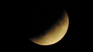 Imatge de l'eclipsi vist des de Blanes