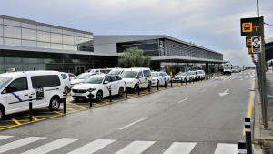 Imatge de l'entrada a l'Aeroport de Reus