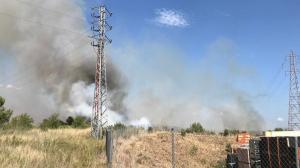 Imatge de l'incendi, a la Selva del Camp