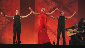 Imatge de Sara Baras, en un moment de la seva actuació al Festival Internacional de Música de Cambrils