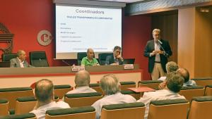 Imatge del primer ple de la Cambra de Comerç de Reus amb el nou mandat de Jordi Just