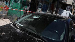 Imatge dels desperfectes causats pel terratrèmol a Atenes