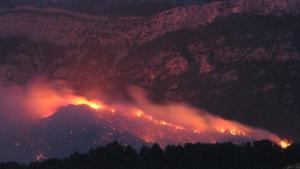 Imatge l'incendi d'Horta de Sant Joan del juliol del 2009.