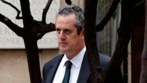Joaquim Forn, al pati dels tarongers de la Generalitat