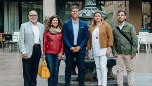 Juan Maria Artigau, Maria Lluïsa Gené, Lluís Abella, Marta Borràs i Jordi Sánchez, els cinc primers de la candidatura.