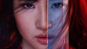 La actriz Yifei Liu en el cartel promocional de Disney para la adaptación de 'Mulán'