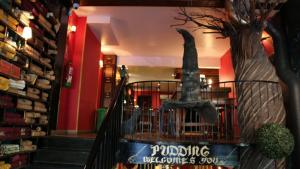 La cafeteria Pudding Diagonal està inspirada en l'univers de la saga de Harry Potter