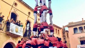 La Colla Vella dels Xiquets de Valls va descarregar el 5de9 a Altafulla l'any passat