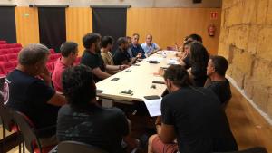 La comissió assesora del Concurs de Castells 2020 es va reunir dijous a l'Antiga Audiència