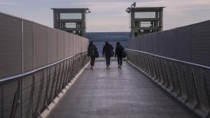 La passarel·la no ha tingut l'efecte que esperaven els restauradors del Port Esportiu.