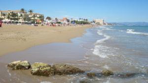 La platja de les Marines, en Dénia, lloc a on s'ha produït el fatal desenllaç