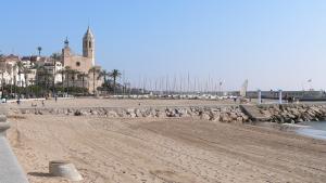 La platja de Sitges on van succeir els fets
