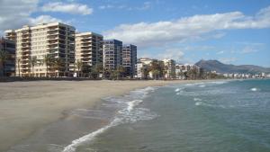La platja d'Heliòpolis, lloc a on s'ha produït la mort de la banyista