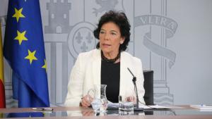 La portaveu del govern espanyol en funcions, Isabel Celaá, aquest divendres 19/7/2019 en roda de premsa