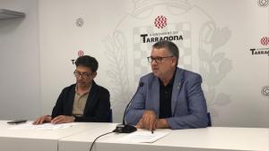 L'alcalde de Tarragona, Pau Ricomà, ha atès els mitjans amb el conseller de Seguretat Ciutadana