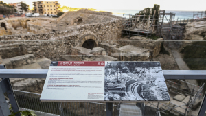 L'Amfiteatre de Tarragona es troba apuntalat des de fa mesos a causa d'unes esquerdes.