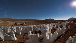 Las dagas de hielo se forman en alturas por encima de los 4.000 metros sobre el nivel del mar