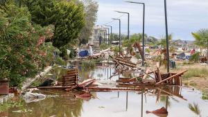 Las playas turísticas de Halkidiki han quedado devastadas por el temporal