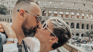 Laura Escanes i Risto a Roma