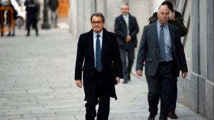 L'expresident de la Generalitat, Artur Mas, a les portes del Tribunal Suprem