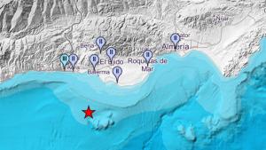 Localización de las poblaciones donde se puede haber sentido el terremoto