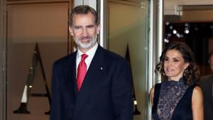 Los Reyes de España a su llegada al concierto conmemorativo al 40 aniversario de la Constitución Española