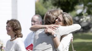 Madre e hija se mostraron muy cariñosas
